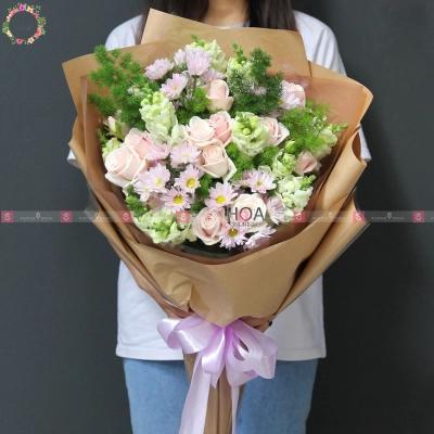 Bó Hoa Chúc Mừng - D196129 - xinhtuoi.online