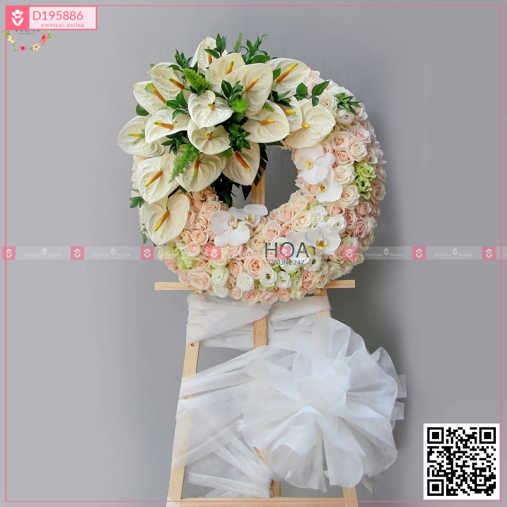 Condolence Wreath - D195886 - xinhtuoi.online