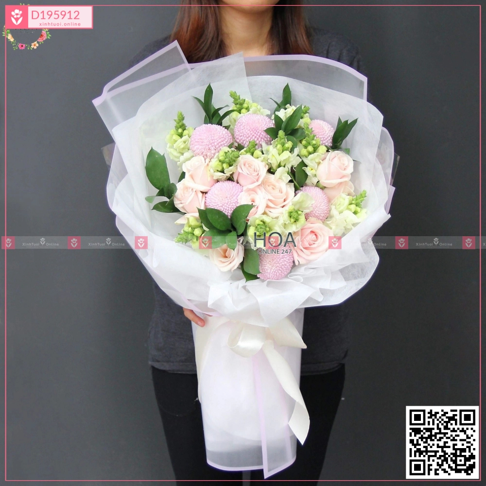 Bó Hoa Chúc Mừng - D195912 - xinhtuoi.online