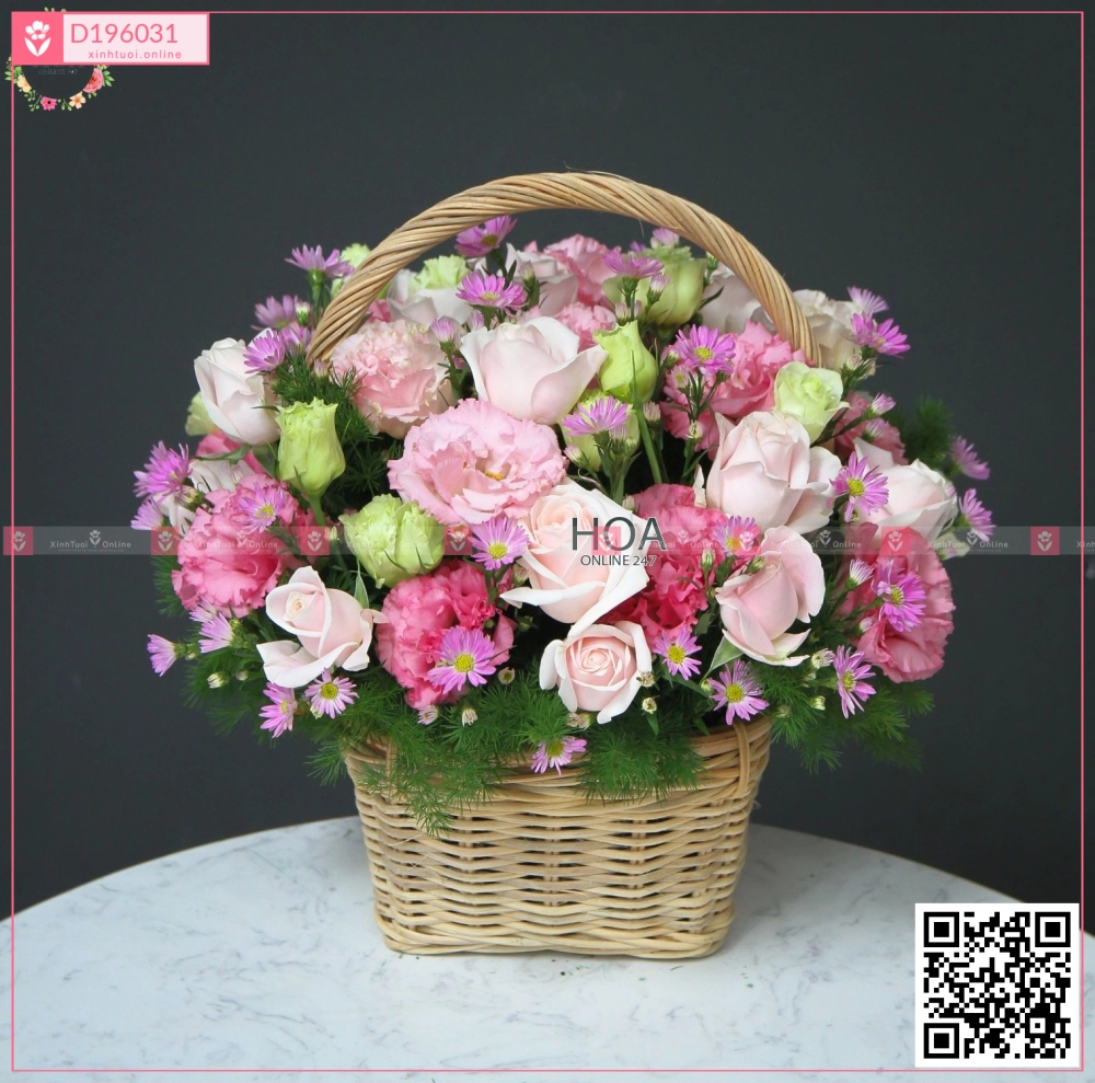 Lẵng Hoa Chúc Mừng - D196031 - xinhtuoi.online