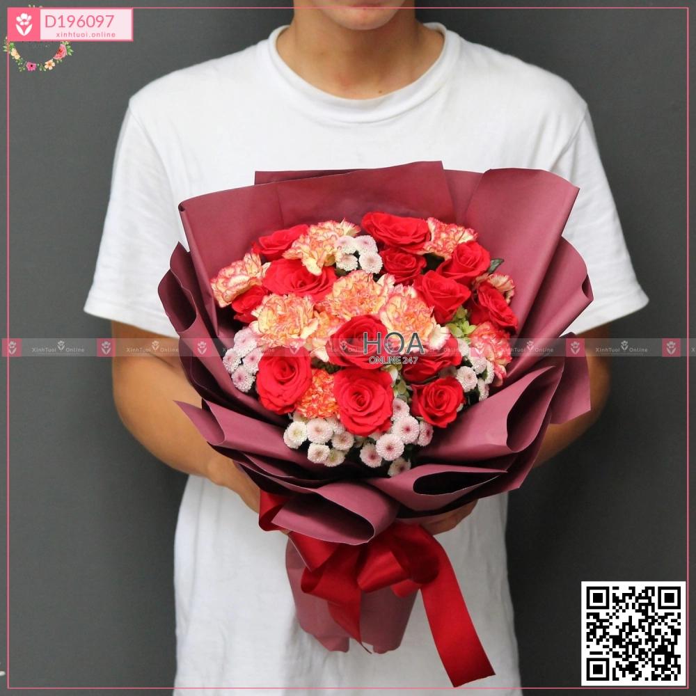 Bó Hoa Chúc Mừng - D196097 - xinhtuoi.online