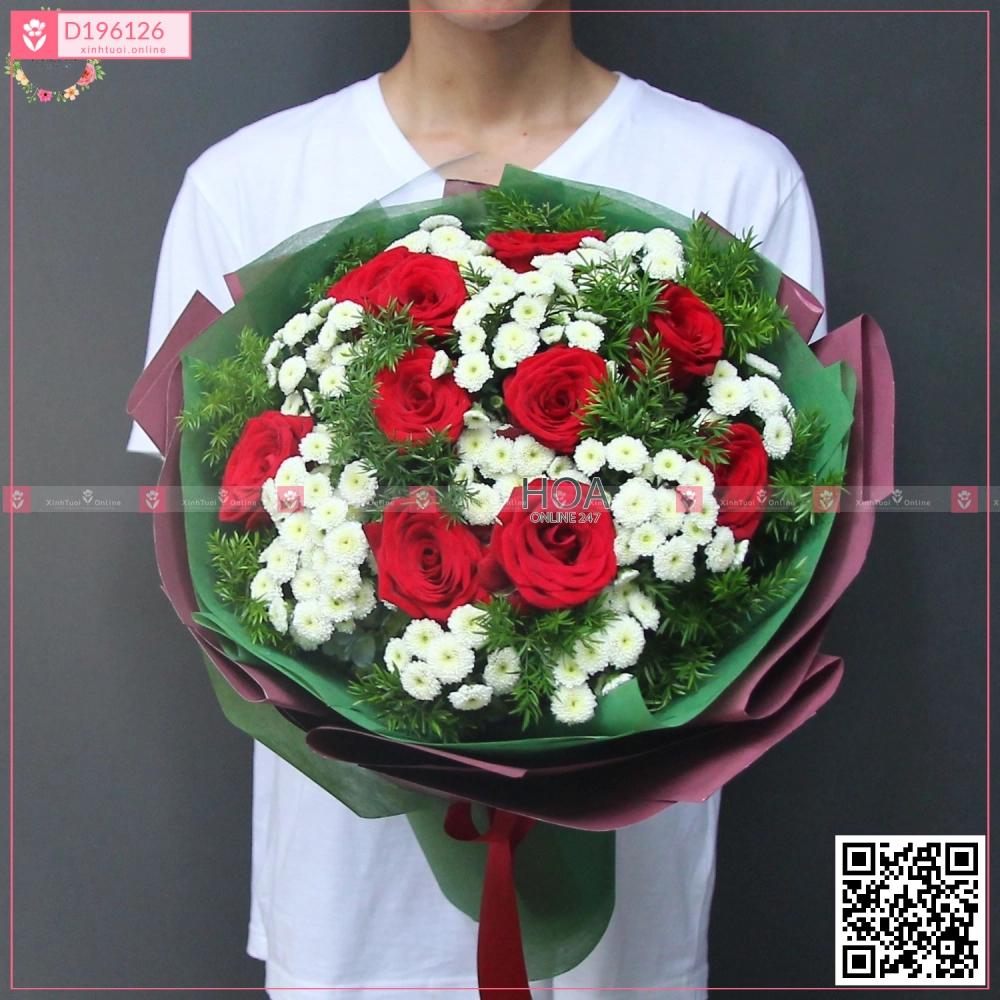 Bó Hoa Chúc Mừng - D196126 - xinhtuoi.online