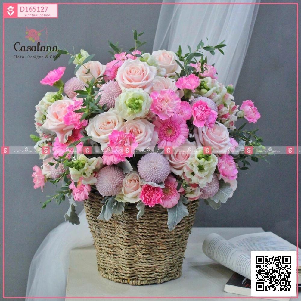 Lẵng Florist Choice Hồng - xinhtuoi.online