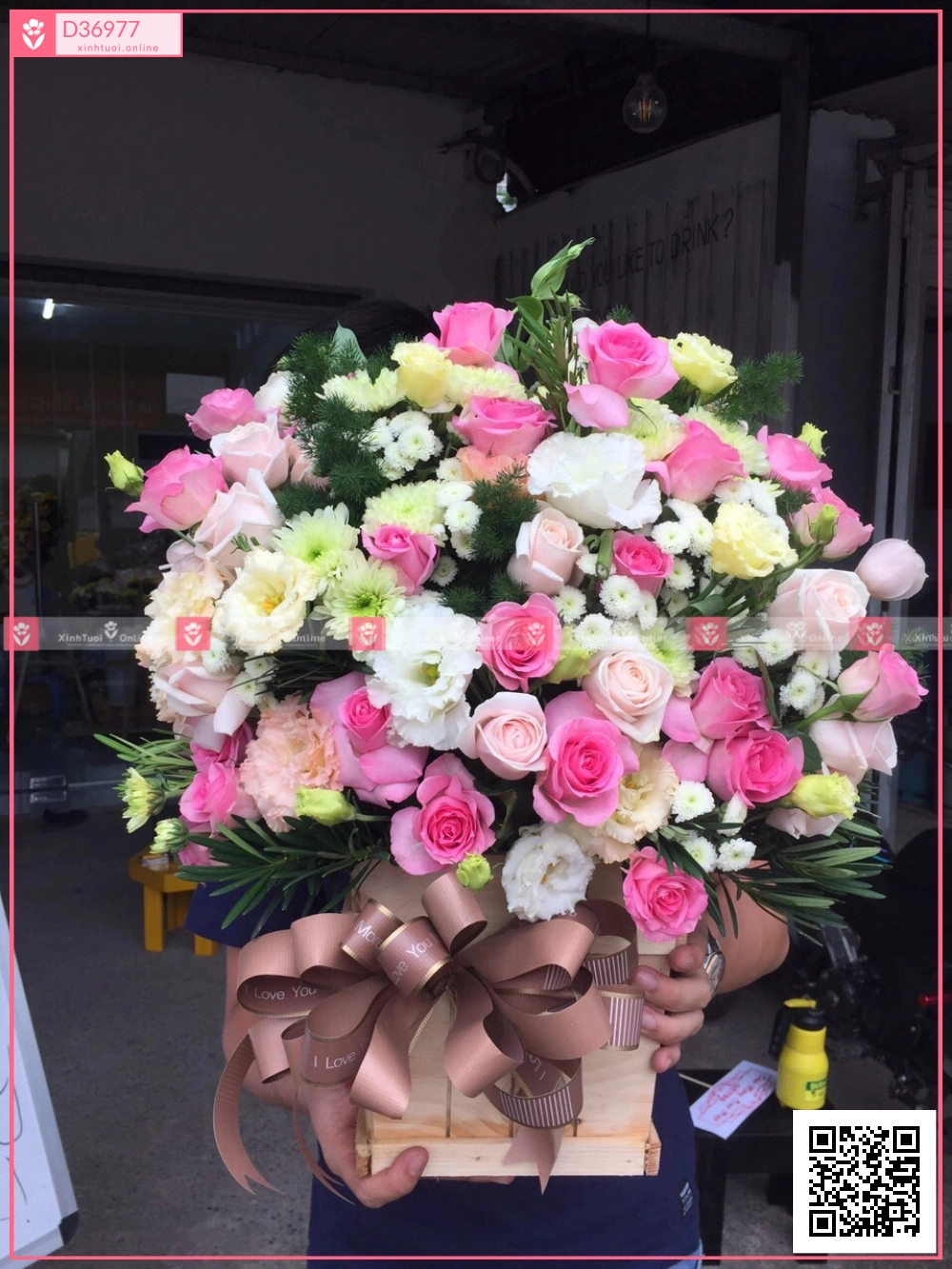 hồng sen, cẩm chướng, cát tường - D36977 - xinhtuoi.online