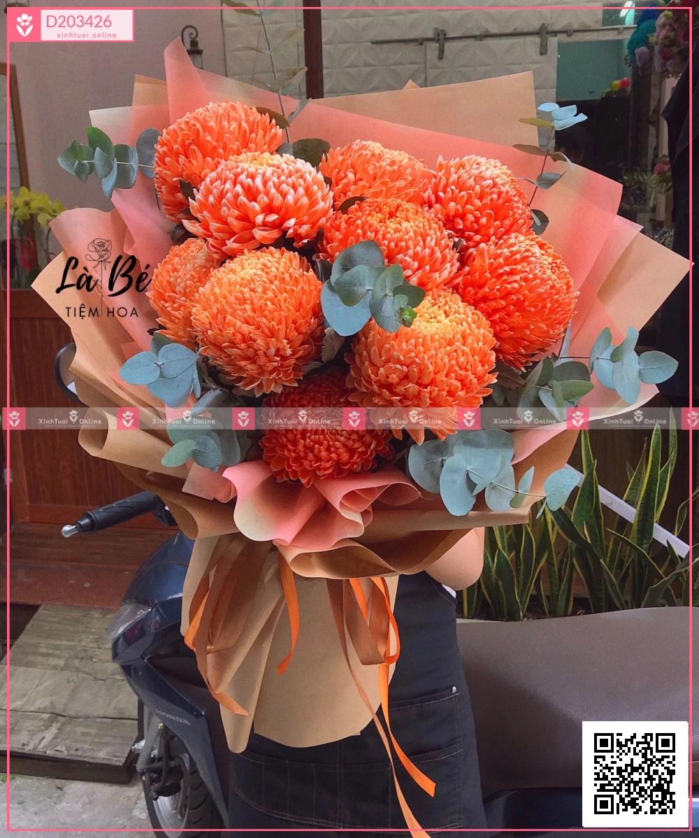 Cúc Mẫu Đơn Cam - D203426 - xinhtuoi.online